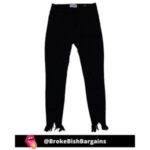 Frame Denim Le High Skinny Blackfish Jeans Size 26